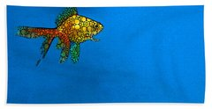 Goldfish Study 4 - Stone Rock'd Art By Sharon Cummings Beach Sheet by Sharon Cummings