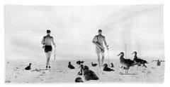 Golf With Gooney Birds Beach Sheet by Underwood Archives