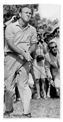 Golfer Arnold Palmer Beach Sheet by Underwood Archives