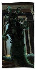 Gorgon Medusa Beach Towel by Martin Davey