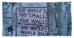 Graffiti On A Wall, Berlin Wall Beach Towel by Panoramic Images