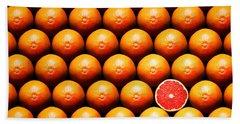 Grapefruit Slice Between Group Beach Towel by Johan Swanepoel