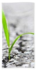 Grass In Asphalt Beach Towel by Elena Elisseeva