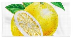 Happy Grapefruit- Irina Sztukowski Beach Sheet by Irina Sztukowski