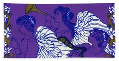 Hark The Herald Angels Sing Beach Towel by Kimberly McSparran