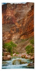 Havasu Creek Number 3 Beach Sheet by Inge Johnsson