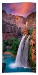 Havasu Falls Beach Sheet by Inge Johnsson