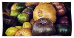 Heirloom Tomatoes At The Farmers Market Beach Towel by Scott Norris