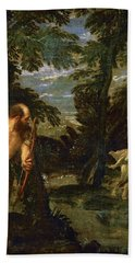 Hercules Deianira And The Centaur Nessus Beach Towel by Paolo Veronese