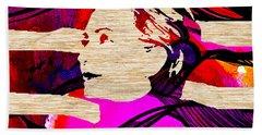 Hillary Clinton Beach Towel by Marvin Blaine