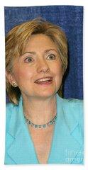 Hillary Clinton Beach Towel by Nina Prommer