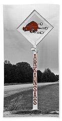 Hog Sign Beach Sheet by Scott Pellegrin