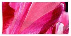 Hot Pink Beach Towel by Rona Black