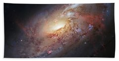 Hubble View Of M 106 Beach Towel by Adam Romanowicz