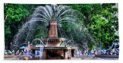 Hyde Park Fountain Beach Towel by Kaye Menner