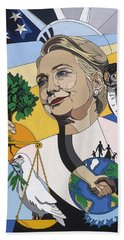 In Honor Of Hillary Clinton Beach Sheet by Konni Jensen