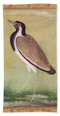 Indian Lapwing Beach Towel by Mansur