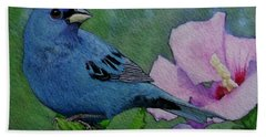 Indigo Bunting No 1 Beach Sheet by Ken Everett