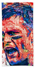 Intense By Tom Brady Beach Towel by John Farr