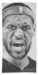 Intensity Lebron James Beach Towel by Tamir Barkan