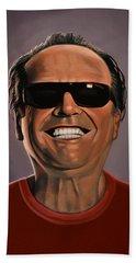 Jack Nicholson 2 Beach Sheet by Paul Meijering
