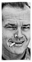 Jack Nicholson Beach Towel by Florian Rodarte