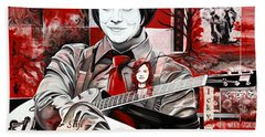Jack White Beach Towel by Joshua Morton