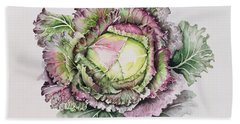 January King Cabbage  Beach Sheet by Alison Cooper