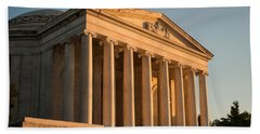 Jefferson Memorial Sunset Beach Towel by Steve Gadomski