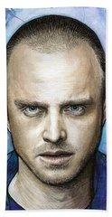 Jesse Pinkman - Breaking Bad Beach Sheet by Olga Shvartsur