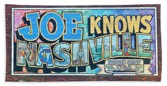 Joe Knows Nashville Beach Towel by Frozen in Time Fine Art Photography