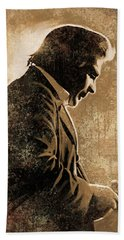 Johnny Cash Artwork Beach Towel by Sheraz A