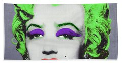 Joker Marilyn Beach Towel by Filippo B