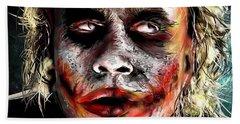 Joker Painting Beach Sheet by Daniel Janda