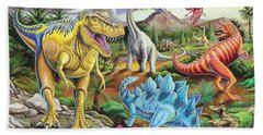 Jurassic Jubilee Beach Sheet by Mark Gregory