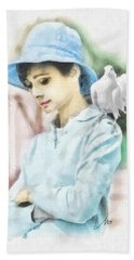 Just Audrey Beach Towel by Mo T