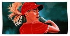 Justine Henin  Beach Sheet by Paul Meijering