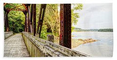 Katy Trail Near Coopers Landing Beach Sheet by Cricket Hackmann