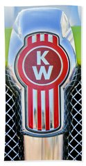 Kenworth Truck Emblem -1196c Beach Sheet by Jill Reger