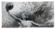 King James Lebron Beach Towel by Ylli Haruni