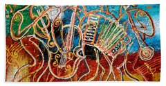 Klezmer Music Band Beach Sheet by Leon Zernitsky