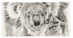 Koala Garage Girl Beach Sheet by Remrov