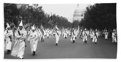Ku Klux Klan Parade Beach Towel by Library of Congress
