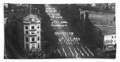 Ku Klux Klan Parade Beach Towel by Underwood Archives