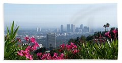 L.a. From Beverly Hills Beach Sheet by Dany Lison