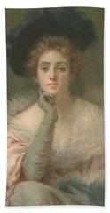 Lady In Pink Beach Sheet by Joseph W Gies