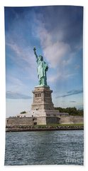 Lady Liberty Beach Towel by Juli Scalzi