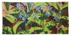Ladybirds Beach Towel by Andrew Macara