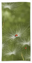 Ladybug Beach Towel by Veronica Minozzi