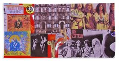 Led Zeppelin  Collage Number Two Beach Sheet by Donna Wilson